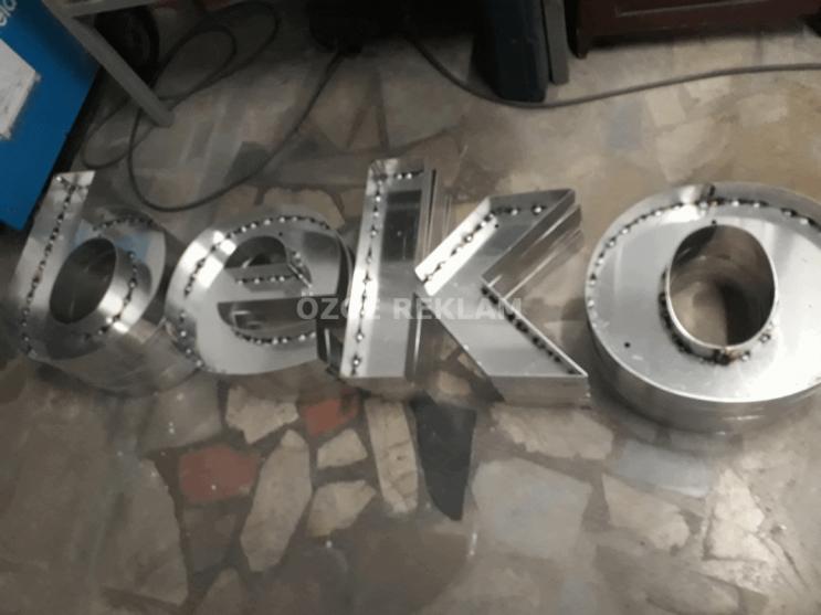 ozge reklam beko fason aluminyum kutu harf