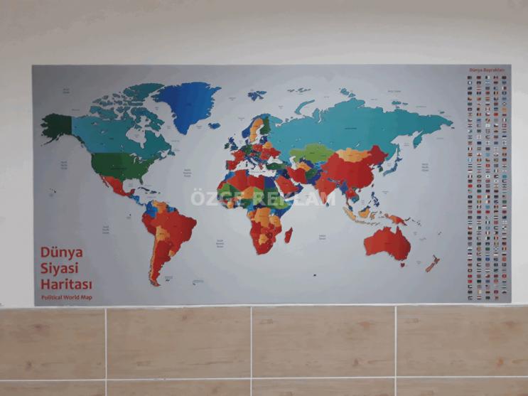 ozge reklam dijital baski dunya siyasi haritasi