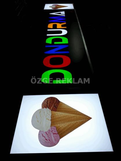 ozge reklam dondurma dekupe oyma tabela