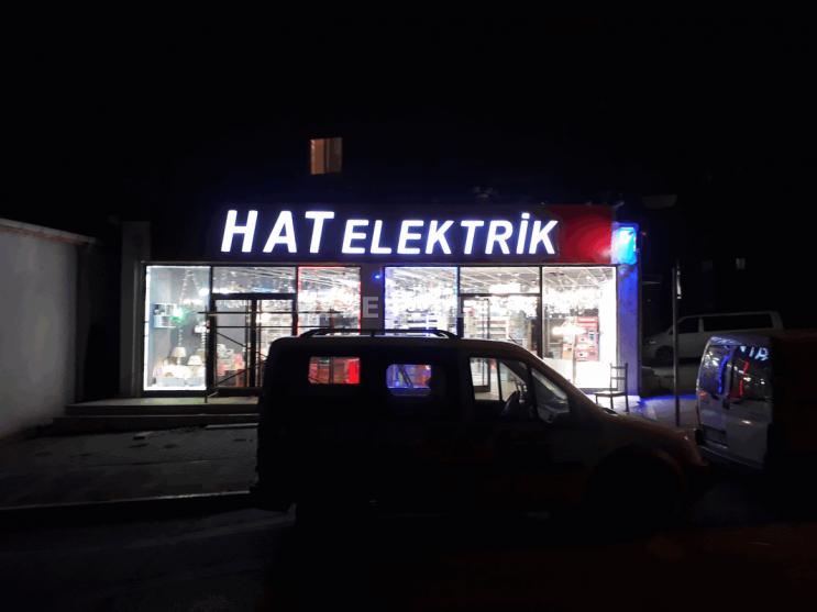 ozge reklam elektrikci reklam tabela calismasi