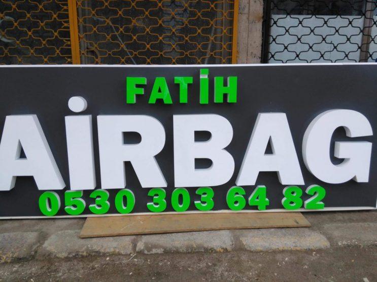 ozge reklam fatih airbag isiksiz kutu harf tabela