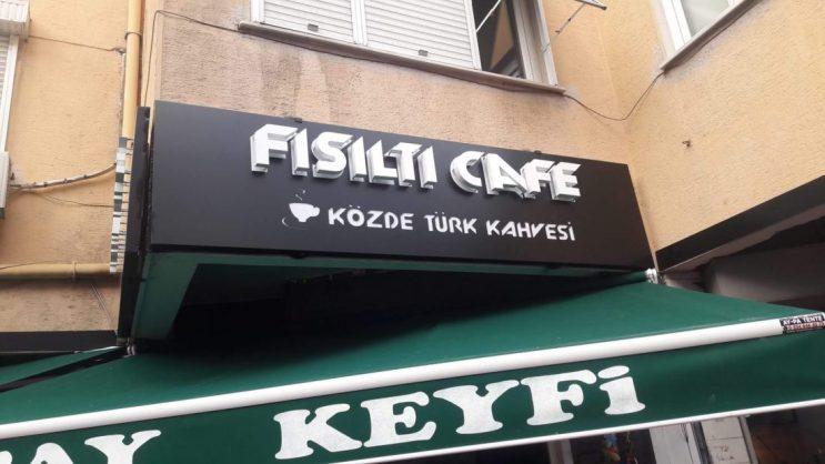ozge reklam kafe isikli pleksi kutu harf tabela