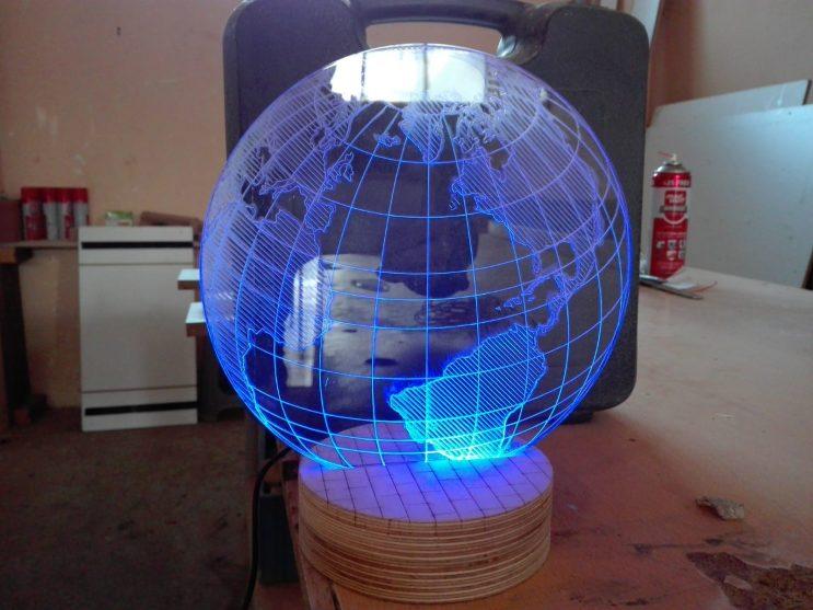 3 boyutlu dunya lamba