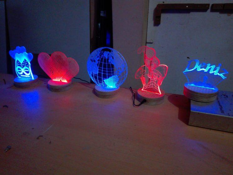 3d 3 boyutlu led lambalar