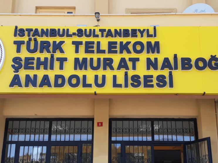 ozge reklam turk telekom lisesi tabelasi