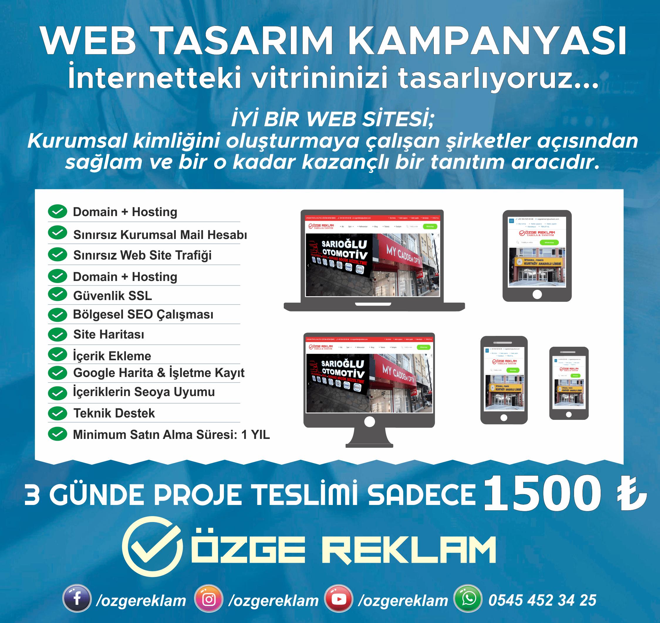 ÖZGE REKLAM WEB TASARIM