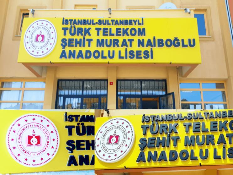 Özge Reklam Sultanbeyli Anadolu Lisesi Tabela Çalışması